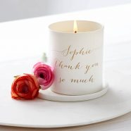 personalised thank you candle