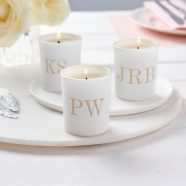 personalised wedding table setting candle