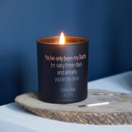 personalised father's day candle